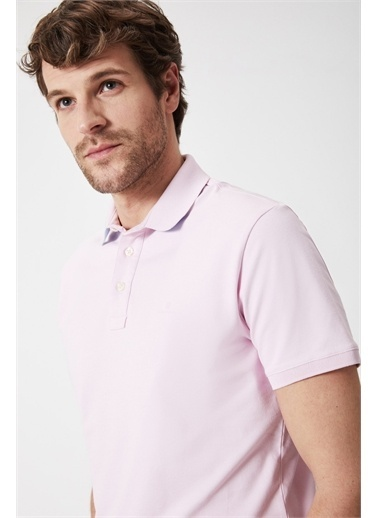 Boris Becker Kontrast Yaka T-shirt Pembe